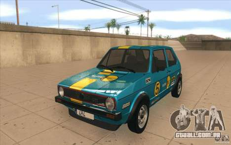 Volkswagen Golf Mk1 - Stock para GTA San Andreas