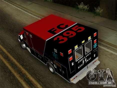 Ford E-350 AMR. Bone County Ambulance para GTA San Andreas vista interior