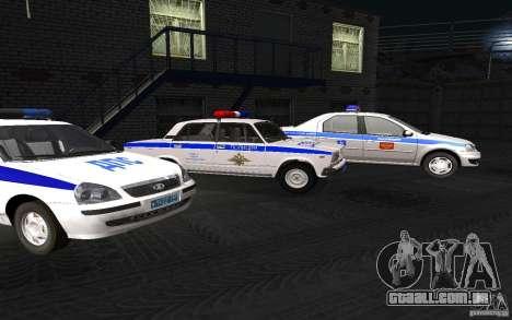 Carro de polícia Vaz 2107 DPS para GTA San Andreas vista direita