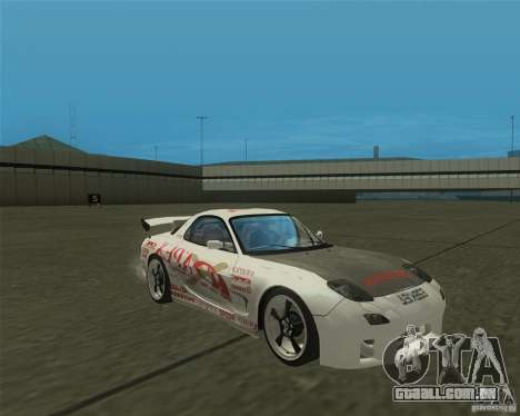 Mazda RX-7 weapon war para GTA San Andreas vista traseira