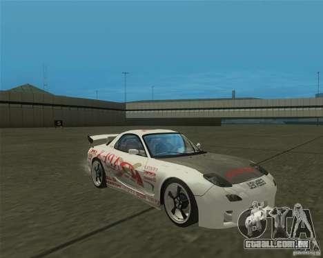 Mazda RX-7 weapon war para GTA San Andreas vista traseira