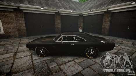Dodge Charger RT 1969 para GTA 4 vista superior