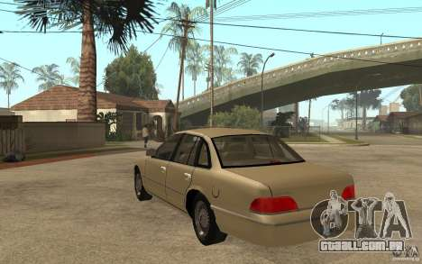 Ford Crown Victoria LX 1992 para GTA San Andreas traseira esquerda vista