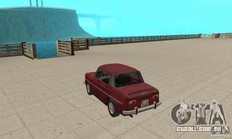 Dacia 1100 para GTA San Andreas traseira esquerda vista