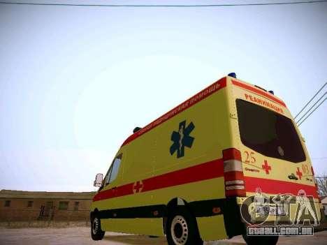 Mercedes Benz Sprinter Ambulance para GTA San Andreas vista traseira