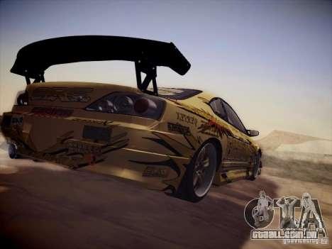 Nissan Silvia S15 Top Secret v2 para GTA San Andreas vista traseira