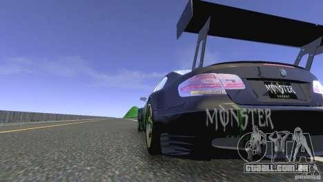 BMW M3 Monster Energy para GTA 4 traseira esquerda vista