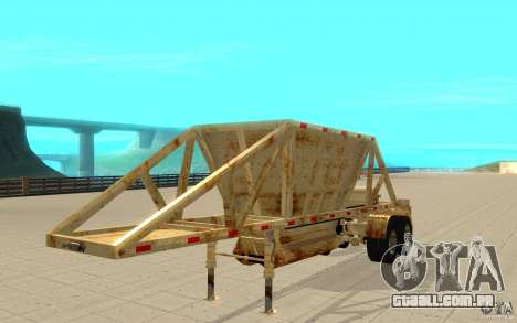Petrotr trailer 2 para GTA San Andreas esquerda vista