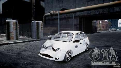 Lada Kalina Tuning para GTA 4 vista interior