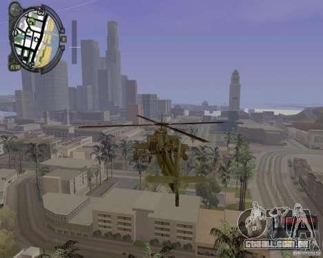 iCEnhancer beta para GTA San Andreas por diante tela