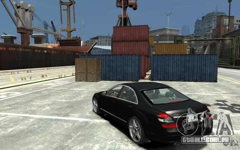 Mercedes-Benz S Class W221 para GTA 4 traseira esquerda vista
