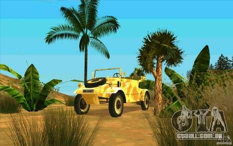 Kuebelwagen v2.0 desert para GTA San Andreas vista traseira