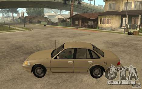 Ford Crown Victoria LX 1992 para GTA San Andreas esquerda vista