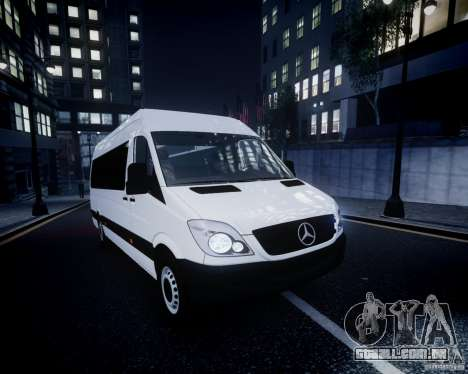 Mercedes-Benz Sprinter Long para GTA 4 interior