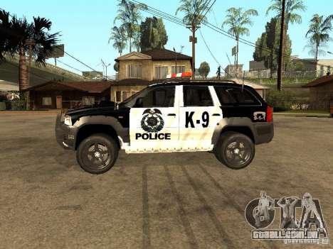 Jeep Grand Cherokee police K-9 para GTA San Andreas esquerda vista