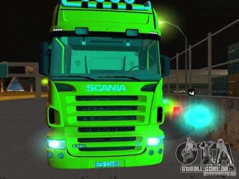 Scania R620 para GTA San Andreas vista traseira