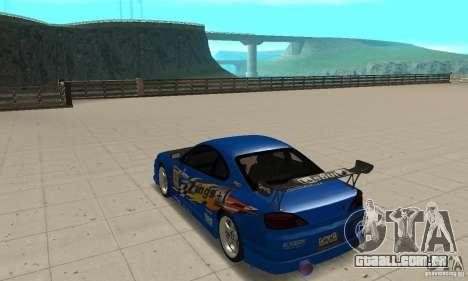 Nissan Silvia INGs +1 para GTA San Andreas traseira esquerda vista