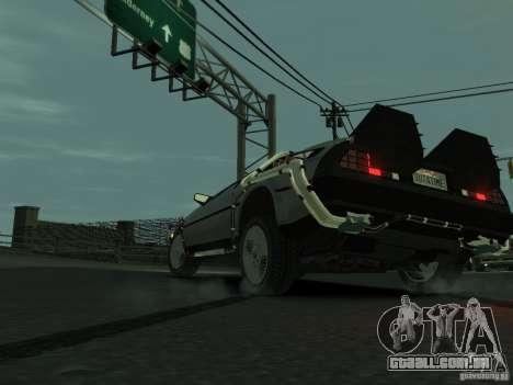 DeLorean BTTF 2 para GTA 4 traseira esquerda vista