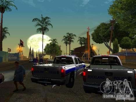 Chevrolet Silverado Rockland Police Department para GTA San Andreas vista direita