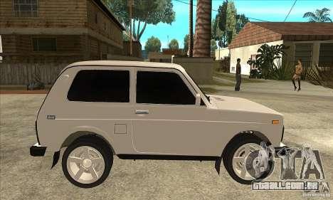 VAZ 21213 NIVA matizado para GTA San Andreas vista traseira