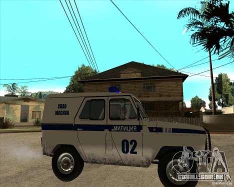 UAZ 31514 patrulha para GTA San Andreas vista direita