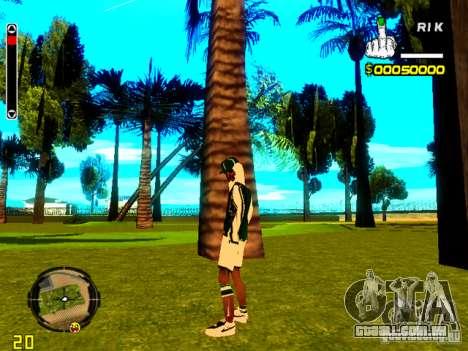 Pele vagabundo v5 para GTA San Andreas segunda tela