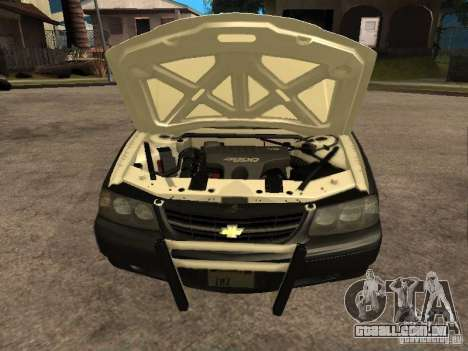Chevrolet Impala Police 2003 para GTA San Andreas vista direita