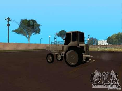 Trator T16M para GTA San Andreas traseira esquerda vista
