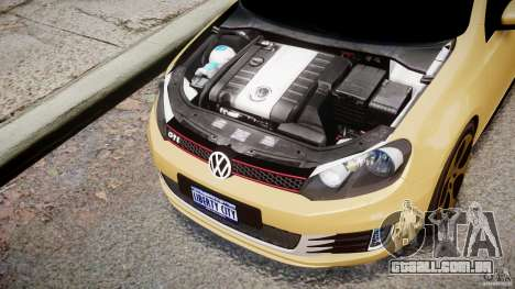Volkswagen Golf GTI Mk6 2010 para GTA 4 vista interior