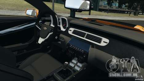 Chevrolet Camaro ZL1 2012 para GTA 4 traseira esquerda vista