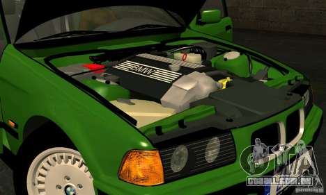 BMW E36 320i para GTA San Andreas vista interior