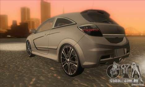 Opel Astra GTC DIM v1.0 para GTA San Andreas traseira esquerda vista