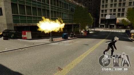 Fogo nas mãos de Geralt para GTA 4 segundo screenshot