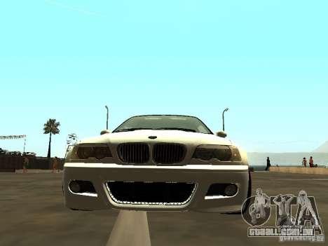 BMW M3 E46 v1.0 para GTA San Andreas traseira esquerda vista