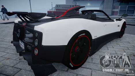 Pagani Zonda Cinque Roadster para GTA 4 vista direita