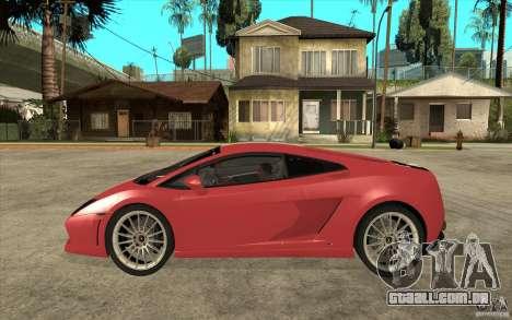 Lamborghini Gallardo LP550 Valentino Balboni para GTA San Andreas esquerda vista