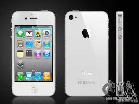IPhone 4G branco para GTA San Andreas