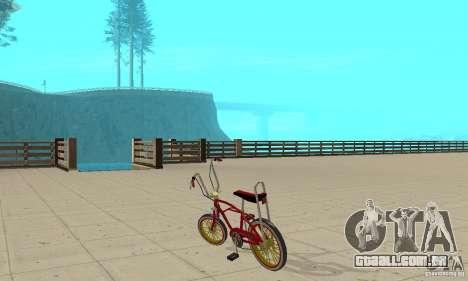 CUSTOM BIKES BMX para GTA San Andreas traseira esquerda vista