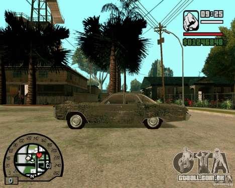 Plymouth Fury III para GTA San Andreas esquerda vista