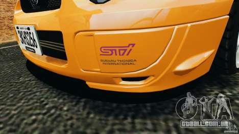Subaru Impreza WRX STI 2005 para GTA 4 rodas