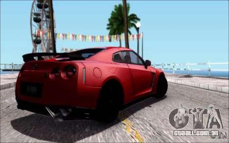 Nissan GTR 2011 Egoist (versão com sujeira) para vista lateral GTA San Andreas