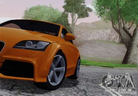 Audi TT-RS Coupe para GTA San Andreas vista interior