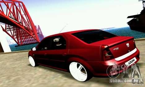 Dacia Logan 2008 para GTA San Andreas vista direita