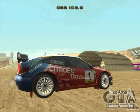 Citroen Xsara WRC para GTA San Andreas esquerda vista
