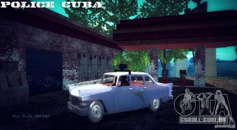 Polícia gás 13 Cuba para GTA San Andreas traseira esquerda vista