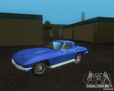 Chevrolet Corvette 427 para GTA San Andreas