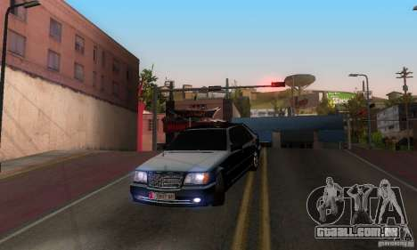 Mercedes-Benz W140 S600 Long Deputat Style para GTA San Andreas vista interior