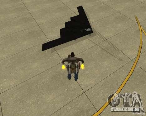 B-2 Spirit Stealth para GTA San Andreas vista direita
