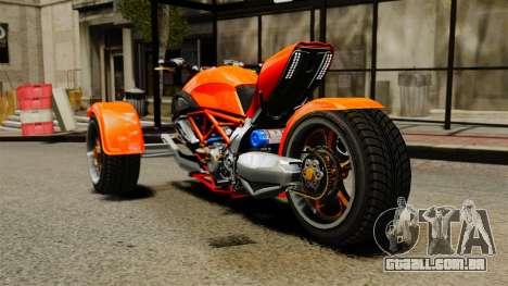 Ducati Diavel Reversetrike para GTA 4 traseira esquerda vista