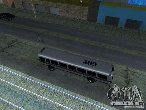 Prison Bus para GTA San Andreas vista traseira
